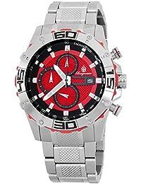 Burgmeister Reloj con movimiento Miyota Phoenix BM534-141 Plateado 45 mm