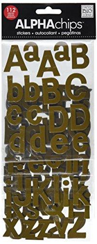 Unbekannt me & My Big Ideas Alpha Chips Designer Chipboard Letter Stickers, Bailey Alphabet, Brown Ultraviolet -