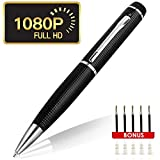 Funshare HD 1080P Hidden Camera Spy Pen Camera. Real HD Video, Voice with Updated Battery. Executive Multifunction DVR. Plug and Play. Perfect Gift (Silver&Black)