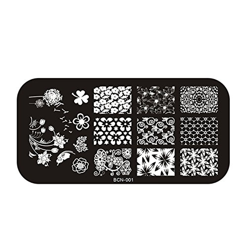 Perfect Summer 1pcs Plaque de Tampons Vernis Stamping Nail Art Image Timbre 6X12 cm #BCN-001