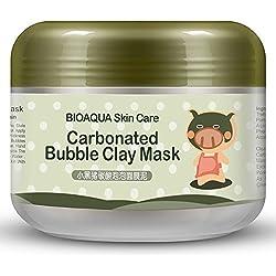 ESHOO Bulle Argile Masque de boue Blanchissant Hydratant Crème Profonde Nettoyer (100 g)