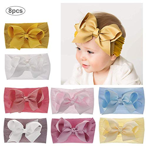by Stirnbänder, Baby Mädchen Neugeborenen Haarband Stirnband Weich Kopfband Baby Schmuck Babyschmuck Babygeschenke & Taufe ()