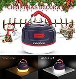 FOGEEK Lanterne de Camping à LED, Mini-Tente Rechargeable, lumière Chaude, veilleuse, Lampe de Secours, Batterie de Secours 5200mAh, résistant à l'eau, Base magnétique, 8 Modes d'éclairage