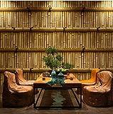 YUYINGXIANG Papier Peint de Style Chinois Papier Peint de Fond de Bambou Vintage Home Decor 3D Salon thé Maison Restaurant Papier Peint