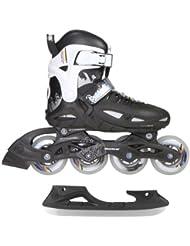 Powerslide 901179/29 Roller/patins à glace Phuzion 1 Combo pour enfant, Noir/blanc Taille 29-32