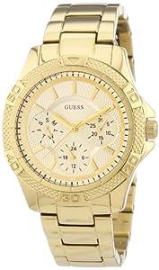 Reloj Guess Ladies Sport W0235L5 de cuarzo para mujer, correa de acero inoxidable color dorado de Guess