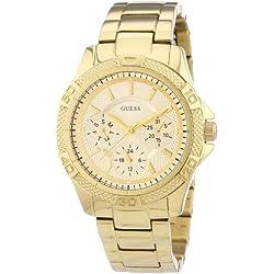Guess Ladies Sport W0235L5 - Reloj analógico de cuarzo para mujer, correa de acero inoxidable color dorado