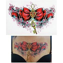 Tatuajes temporales Tempo rary Tattoo Fake Tattoo–Lazo de llaves