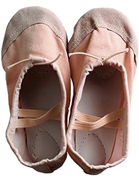 Andux Zone Zapatos de ballet para niñas de danza Canvas rosas 1 Par ETRDWX-01