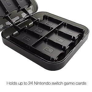 Nintendo Switch 24-in-1 Game Card Case, Taken Game Card Storage Case for Nintendo Switch Game Cards(Black)