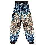 VENMO Hombres mujeres tailandesas pantalones de harén Festival hippy delantal hippie alta cintura...