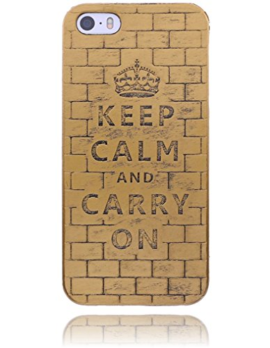 Apple iPhone 6 / 6S Hülle Burkley Silikon Schutzhülle | Mit Motiv | Handyhülle | Cover | Case | Tasche | Hülle mit Motiv Mandala Medallion Vintage CALM Gold