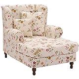 Max Winzer® Big-Sessel inkl. 2x Zierkissen 55x55cm + 40x40cm Mareille, weiß, Flachgewebe, XXL, Ohrenbacken, romantisch, Landhaus, 103 x 149 x 103 cm