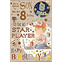 Son 8th Birthday Card -
