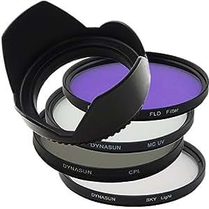 Kit Filtro DynaSun Multicoated UV MCUV 62 mm + Polarizzatore 62 mm +Skylight +FLD +Paraluce