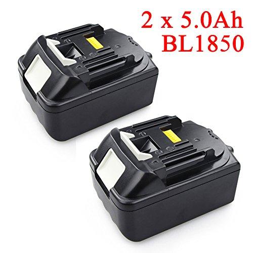 Preisvergleich Produktbild Neu 2 Stück 5000mAh Ersetzen Akku für Makita BL1830 BL1850 Li-Ion Werkzeug Akku 18V Batterie