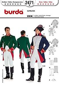 Burda Mens Sewing Pattern 2471 - Napoleon Costume Sizes: 36-48 by Burda