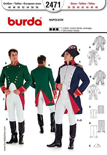 muster 2471–Napoleon Kostüm Größen: 36–48 (Burda Patterns Kostüme)