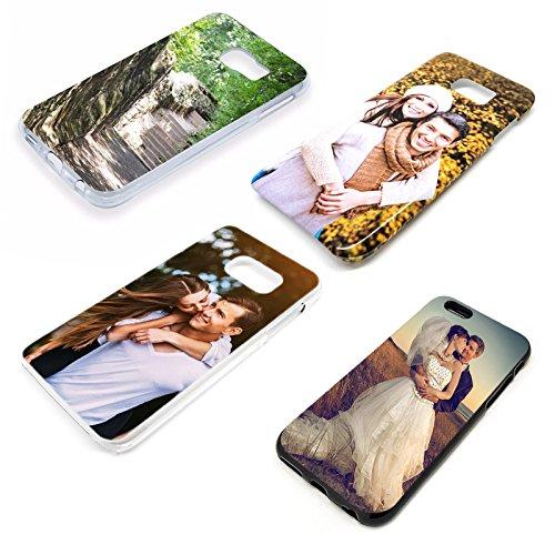 Premium Handyhülle für Apple iPhone-Serie selbst gestalten mit eigenem Foto und Text * Bild Cover Kappe Schutzhülle, Handymodell:Apple iPhone 7 Plus, Hülle:3D Hülle TPU-Silikon / Blau (matt)