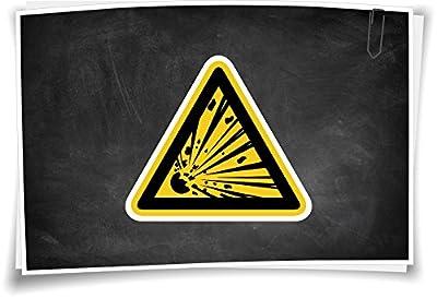 W002 Warnung vor explosionsgefährlichen Stoffen Warnzeichen Aufkleber Hinweis