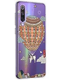 Suhctup Compatible con Xiaomi Redmi K30/K30 Pro Funda de Transparente Silicona con Dibujos Lindo Animados Animal Diseño Patrón Cárcasa Suave Flexible Ultrafina TPU Antigolpes Protección Caso, Perro