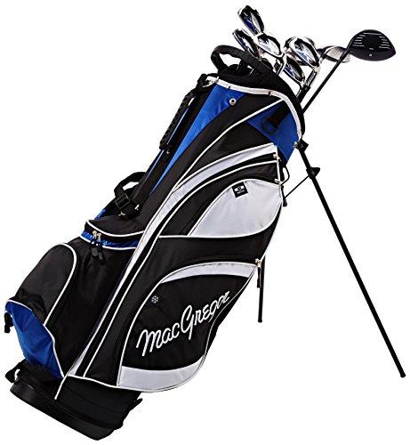 MacGregor DCT Graphite Ensemble de sac avec support, Noir/blanc/bleu