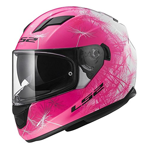 LS2 103202544S FF320 Casco Stream Wind, Color Blanco/Rosa fluor, Tamaño S