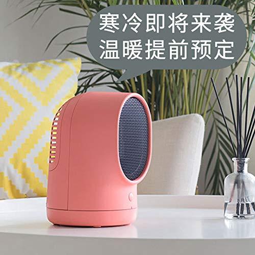 Liuwentao Fan Heater Warm Air Fan Personal Mini Desktop Small SunMini HeaterLow Power Student Dormitory Office Pink (Tuba)