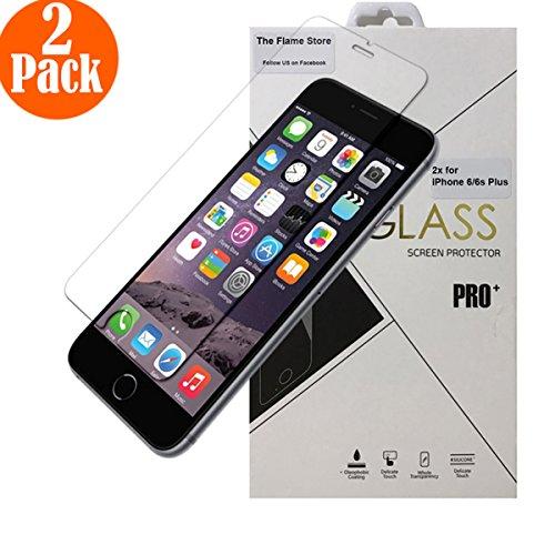 iPhone 6 Plus / 6S Plus Pellicola Vetro Temperato -The Flame- 2 Pack Pellicola Protettiva in Vetro Temperato Film Screen Protector Ultra Resistente Durezza 9H Spessore 0.33mm (HD Alta Trasparenza)