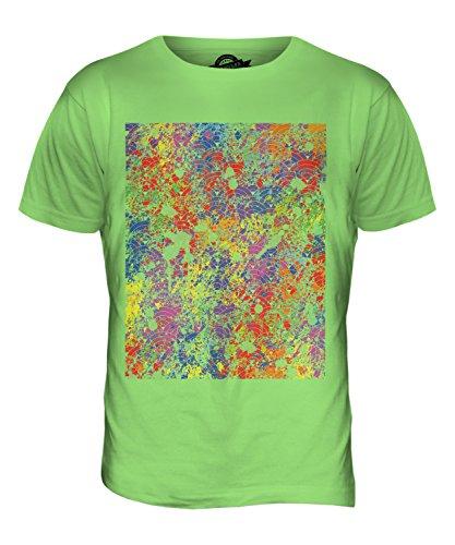 CandyMix Farbe Splatter Herren T Shirt Limettengrün