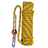 Aoneky Rock and Trees Climbing Rope for Rappelling, Auxiliary, Fire Escape aerial work, Engineering Protection, Caving, Adult Activities, Sling, Paracord Rope, Multipurpose Heavy Duty Rope Equipment, Diameter 10mm 12mm Safety Durable High Quality Rope 10 Meters, Yellow (32.8feet, 10mm)