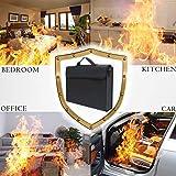 Le Sac de Document Ignifuge de Magasin de DDDD, Le Sac de Document imperméable 15 * 11 Pouces résistent à 1000, Faits de Haute qualité en Fibre de Verre Ignifuge Security Bag, Documents, passeports