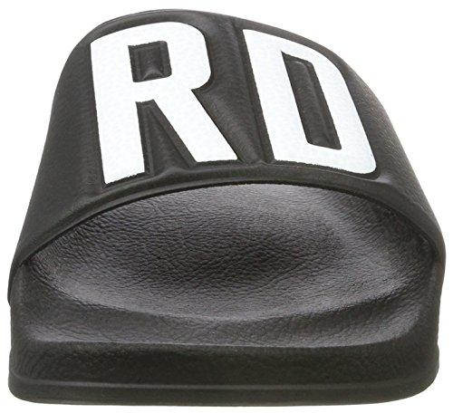 G-STAR RAW Cart Gsrd Slide, Sandales Ouvertes Homme Noir (Black)