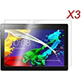 3 x Infiland Pack of Prime Protector de Pantalla para Lenovo Tab 2 A10-70 / Tab 2 A10-70L / Tab 2 A10-70F / Tab 2 A10-30F / Tab 2 A10-30L / Tab 3 10 Business - Prima Crystal HD Clear resistente del rasguño para Lenovo Tab 2 A10-70/Tab 2 A10-30/Tab 3 10 Business 10.1-Inch Android Tablet (Clear - 3 Pack)