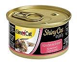 GimCat Shinycat Hühnchen mit Krebsen, 24er Pack (24 x 70 g)