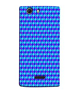 PrintVisa Designer Back Case Cover for Micromax Canvas 5 (figured crossed boxed makes pattern)