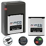 2 Batteries + Double Chargeur (USB) pour Samsung EB-BC200ABE / Samsung Gear 360 (SM-C200) [3.85V - 1100mAh - Li-Ion]