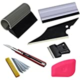 Ehdis® 6 en 1 Car Window Tint Kit Tools pour voiture Tinting Film Raclette Scraper Application Set d'installation