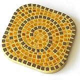 ALEA Mosaic Mosaik Bausatz, 2 Untersätze, Honiggelb