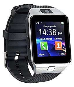 mobicell Celkon Millennia Epic Q550 COMPATIBLE Bluetooth Smart Watch Phone With Camera and Sim Card Support With Apps like Facebook and WhatsApp Touch Screen Multilanguage Android/IOS Mobile Phone Wrist Watch Phone with activity trackers and fitness band features by mobicell