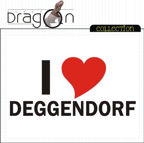 T-Shirt mit Städtenamen - i Love Deggendorf - Herren - unisex Weiß