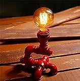 MEILI Lampada da tavolino modello Loft retrò Decorazione Camera da letto studio industriale Lampada da tavolo a vento Ristorante occidentale Mensola Decorazioni creative , 1