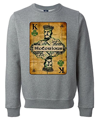 Conor McGregor The Notorious King Playing Card Unisex Maglione Felpa XX-Large