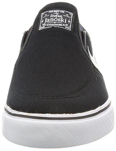 Nike Zoom Stefan Janoski Slip Cnvs, Chaussures de Skate Homme Black/White/Black