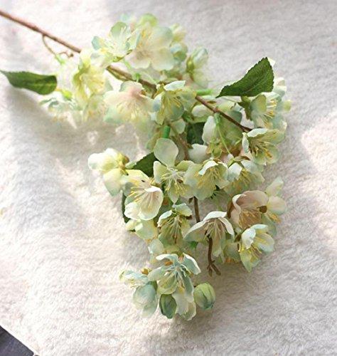 ZEZKT-Home Sakura Deko Künstliche Blumen Kunstpflanze Künstliche Blatt Blumen Hochzeit Bouquet Party Dekoration Kunstblumen Künstliche Seide gefälschte Blumen Baby Atem Blumen Hochzeit (mint grün)