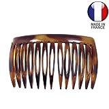 691-003 - Pettinino per capelli Fianchino cm 6,5 colore tartaruga - Made in France - Pettinini per capelli Pettini Fianchini