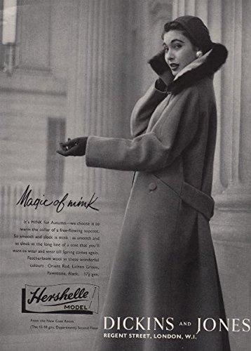 hershelle-model-dickins-and-jones-magic-of-mink-coat-fashion-advert-1955-old-antique-vintage-print-a
