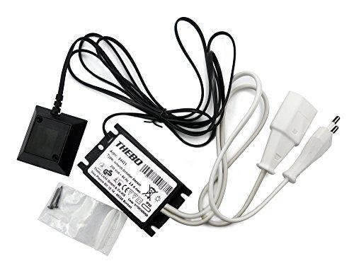 THEBO Infrarot Schalter mit Sensor mit Zierrahmen schwarz / Leuchtenschalter -