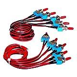 Enisina Wired Kippschalter, SPST, An-Aus, On-Off 3A 250 V AC / 6A 125 V AC Micro Kippschalter MTS-1, 10 stücke