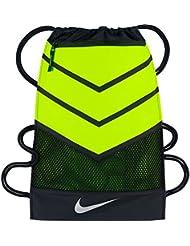 Nike Vapor Gymsack 2.0 Mochila, Hombre, Negro (Black / Volt / Metallic Silver), Talla Única